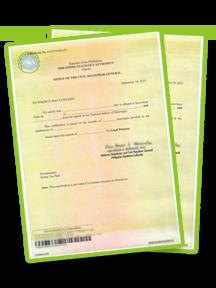 PSA Cenomar Certificate